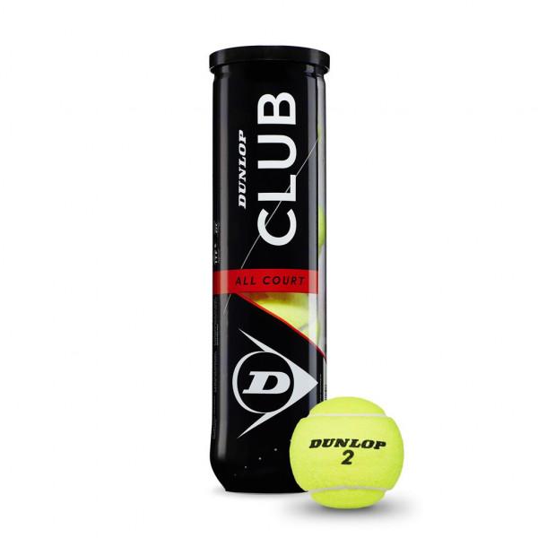 Dunlop Tennisball CLUB ALLCOURT 4er Dose